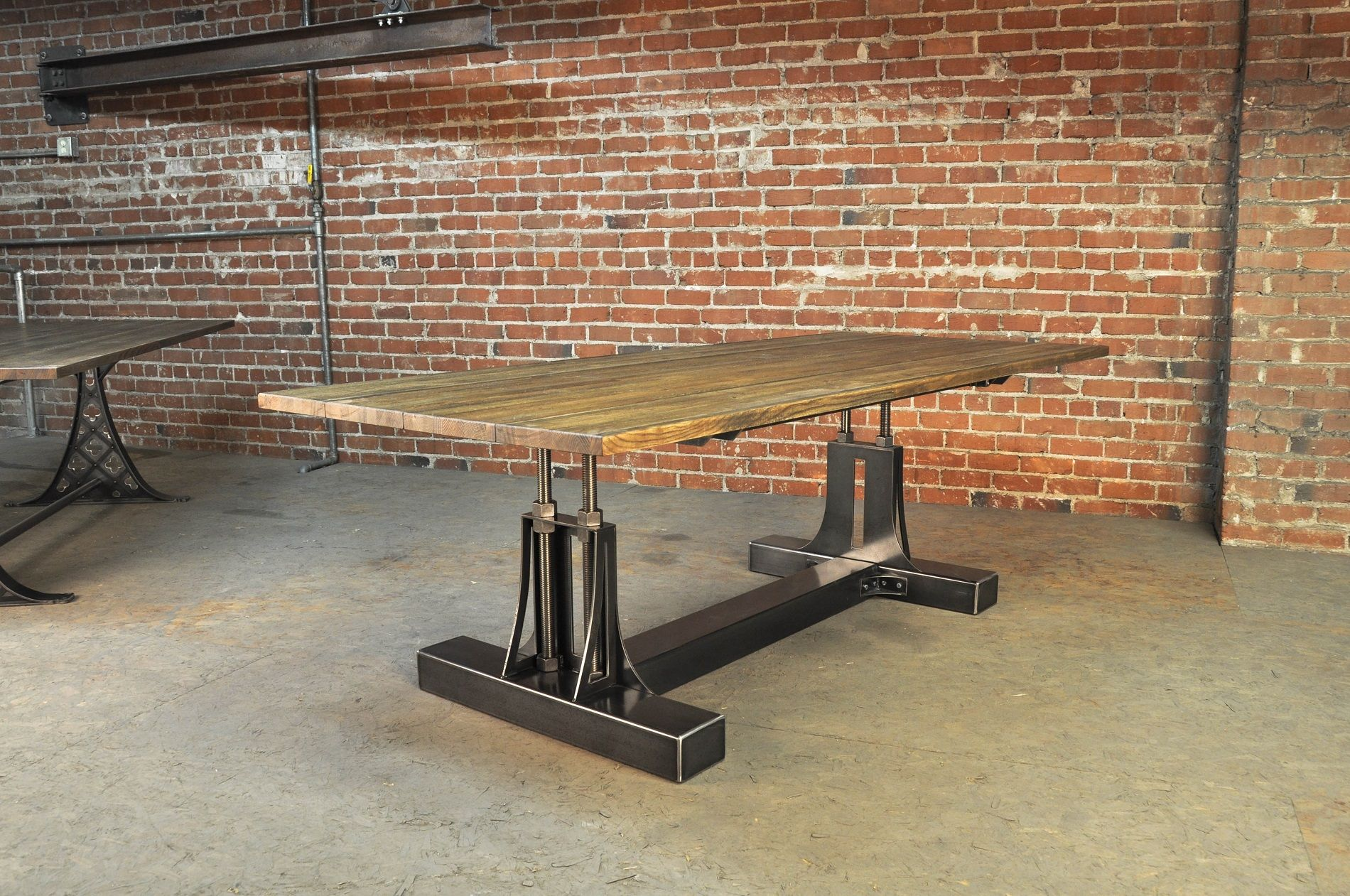 Factory caster vintage industrial furniture - Post Industrial Conference Table