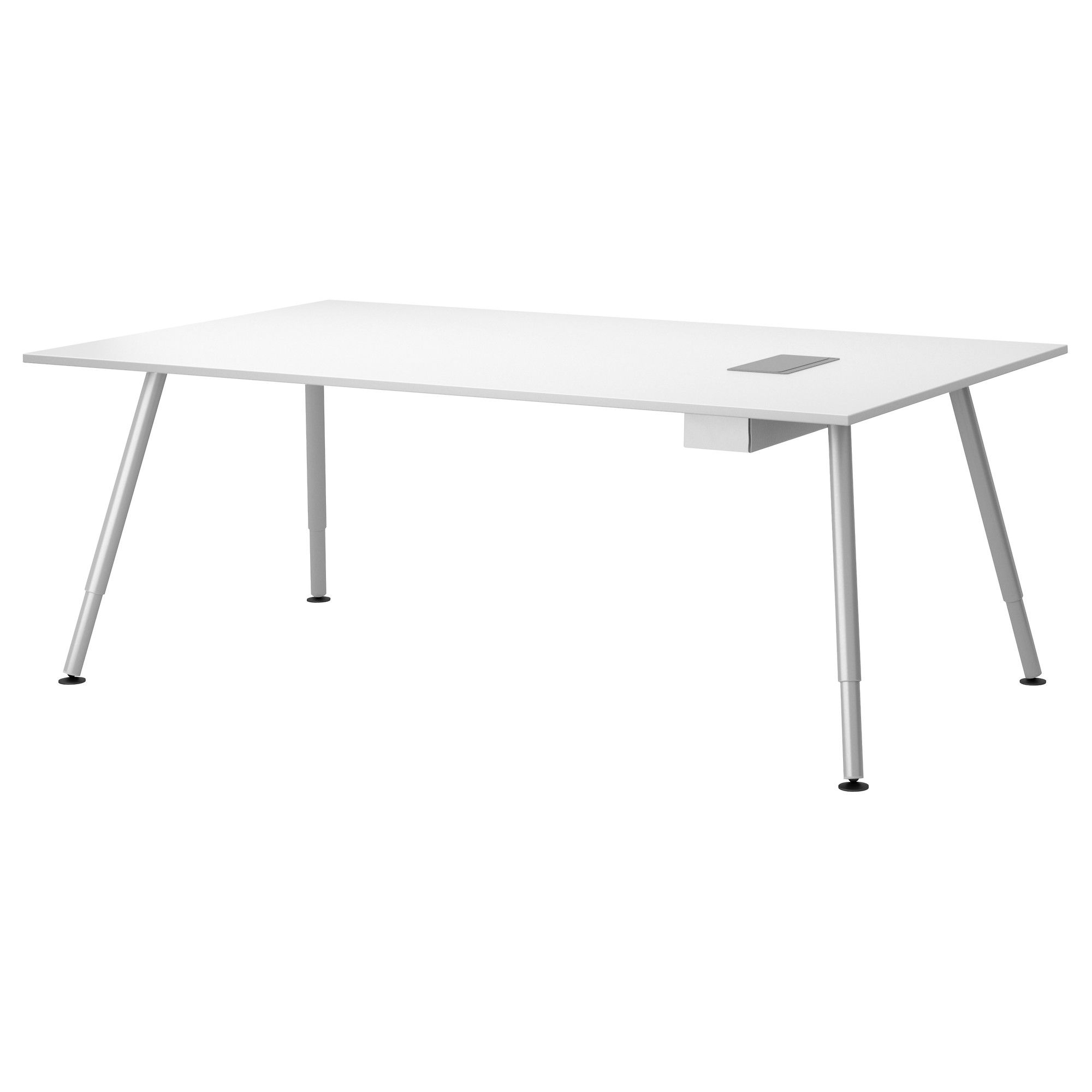 Galant conference table white silver color ikea conference table vision for - Table bureau ikea ...