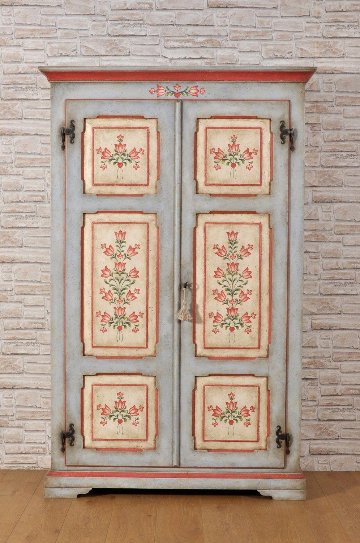 Double Leaf Door Hand Decorated Tyrolean Val Badia Cupboard Con
