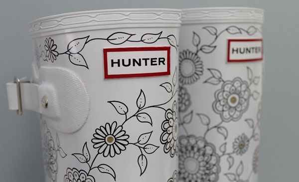 Use a sharpie to decorate wellies