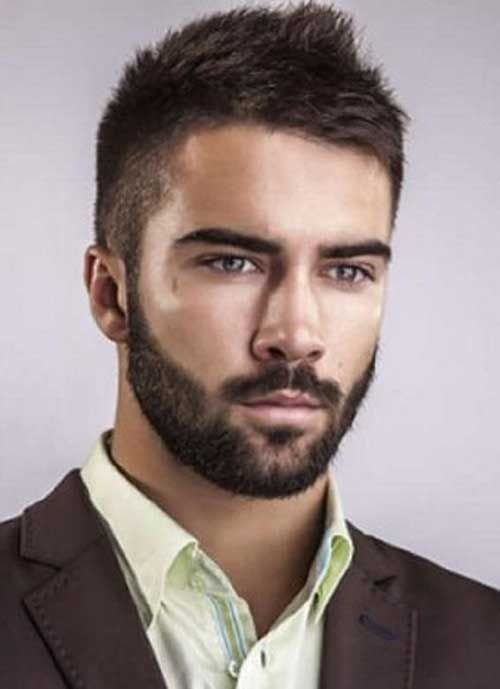 Mens Short Dark Casual Hair Mens Haircuts Short Mens Hairstyles Short Beard Styles