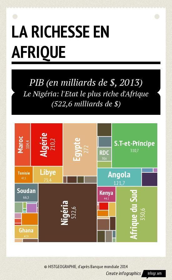 Carte De Lafrique Interactive.Infographic La Richesse En Afrique Le Nigeria L Etat Le Plus