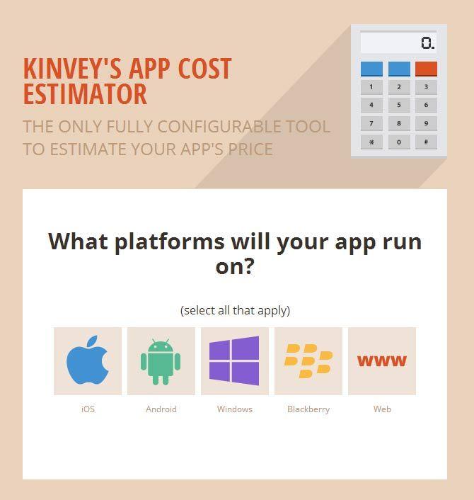 Kinvey´s App Cost Estimator [Web Development] [App