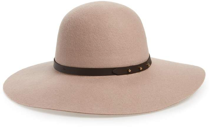 3781306a2b6 Halogen Refined Wide Brim Wool Floppy Hat