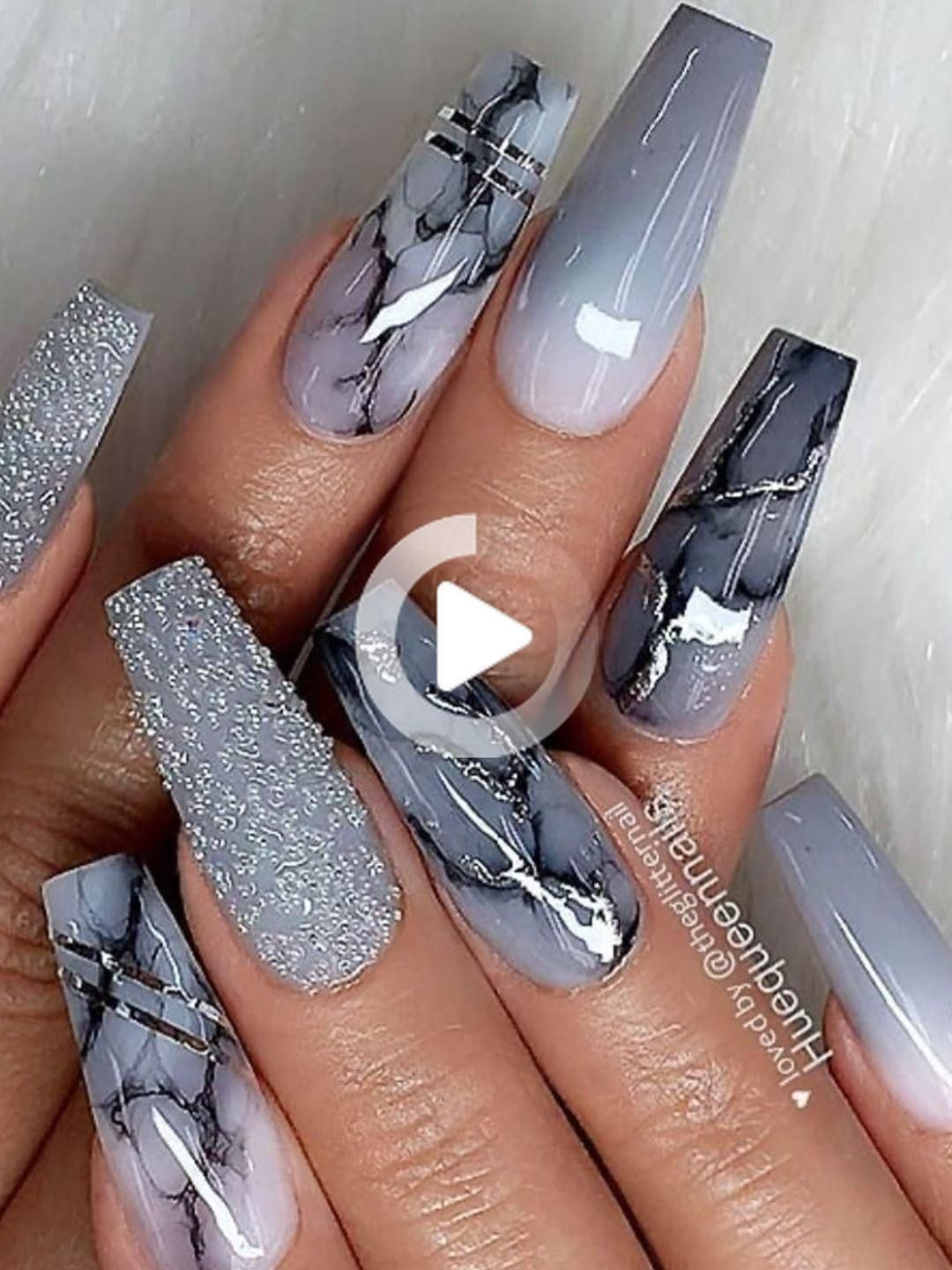 Il Best Nail Grey Art Design Ideas In 2020 Coffin Shape Nails Ombre Acrylic Nails Swag Nails