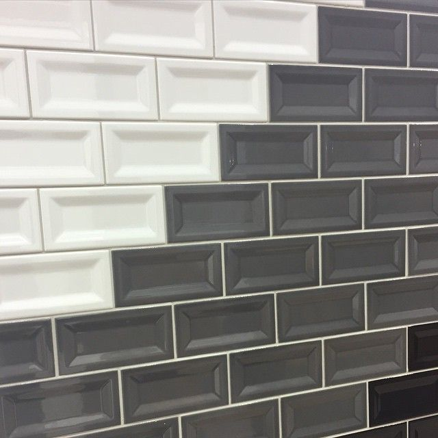 excellent dimensions of subway tile. Classic subway tiles with a twist  Inverted bevel Creates new dimensional look