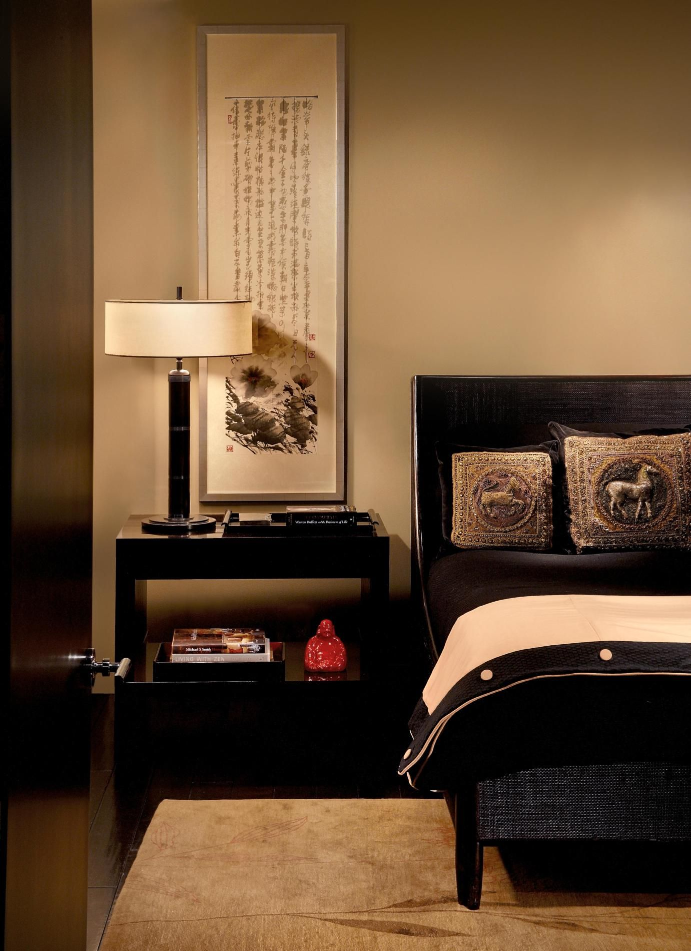 25 Asian Bedroom Design Ideas | Modern asian, Black lamps and ...