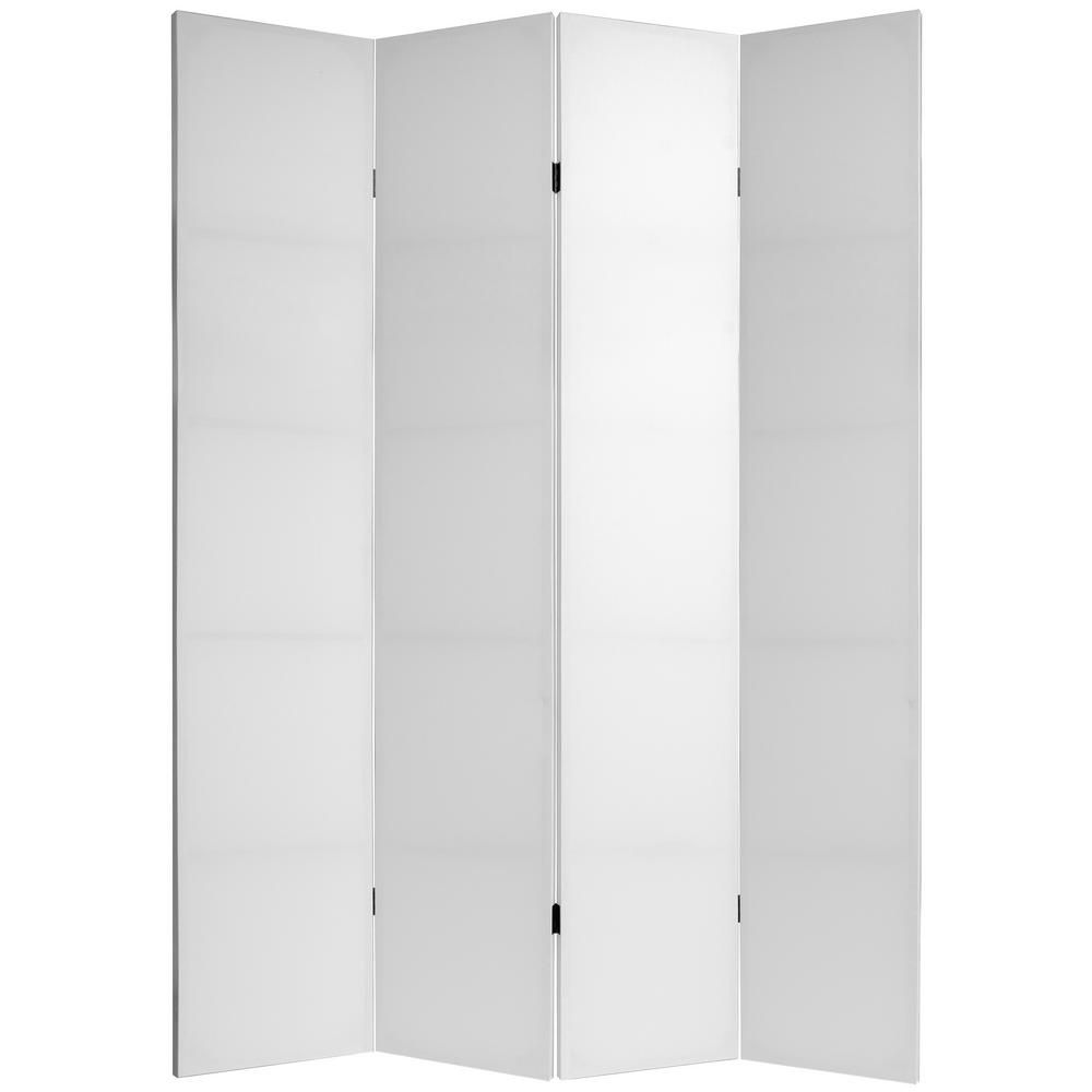 7 Ft White Do It Yourself Canvas 4 Panel Room Divider Panel Room