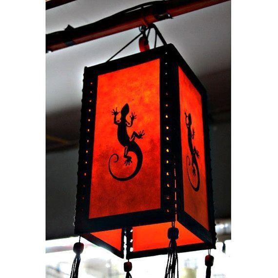 Zen hanging lamp chandelier / housewares fixture pendant lantern lampshade night light lighting shades home garden decor Lizard HA21