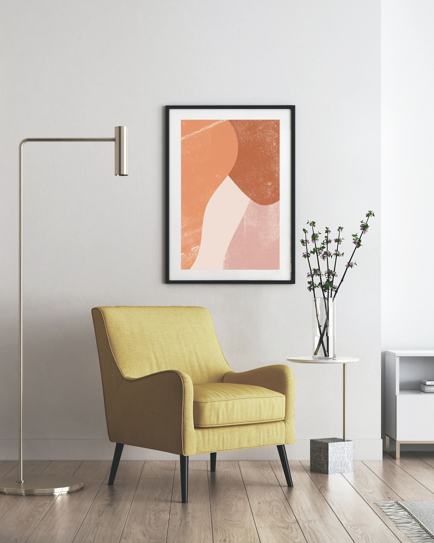 Warm Abstract Modern Print Art Boho Printable Wall Art Minimalist Artwork Pastel Nordic Home Decor Simple Scandinavian Style Decoration Art In 2020 Modern Prints Minimalist Wall Art Printable Wall Art Etsy
