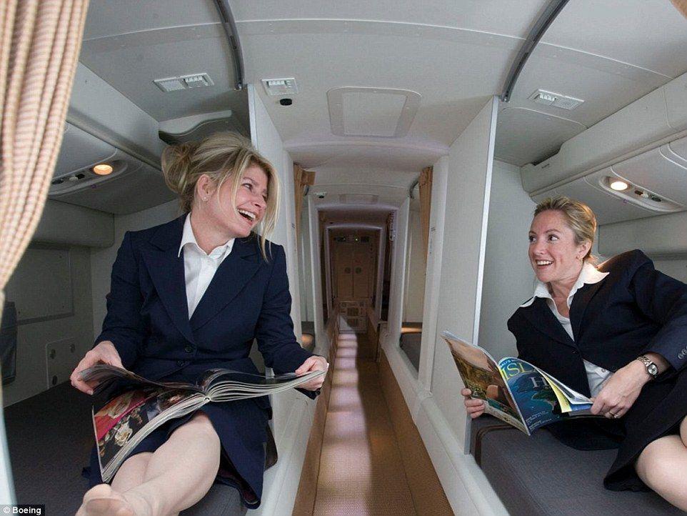 Inside The Secret Bedrooms Where Flight Attendants And Pilots Sleep Flight Attendant Airplane Bedroom Cabin Crew