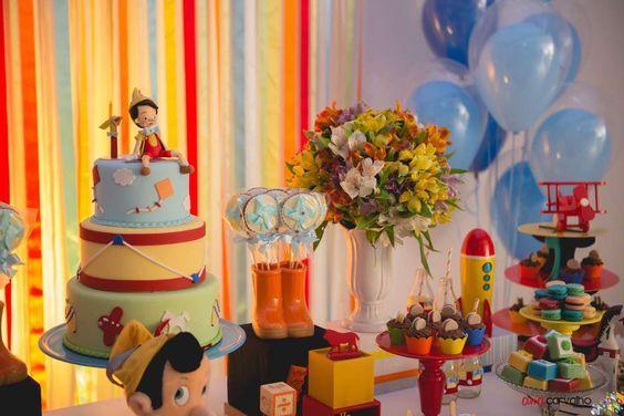 Decoracion De Cumpleanos De Pinocho Buscar Con Google Decoracion De Fiestas Infantiles Decoracion De Cumpleanos Pinocho