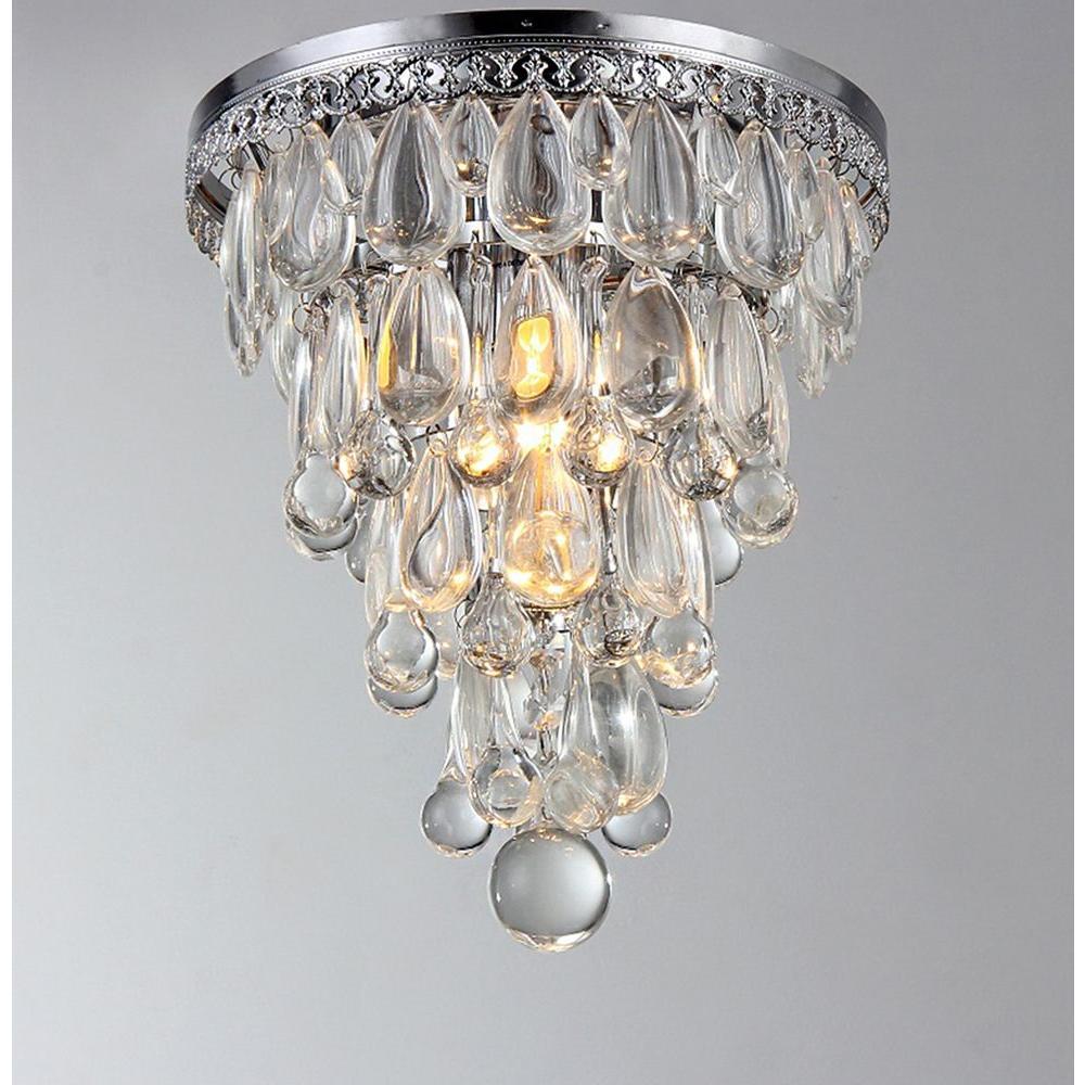 Kristal Chrome Indoor Crystal Flush Mount Su1695 Ceiling Lights