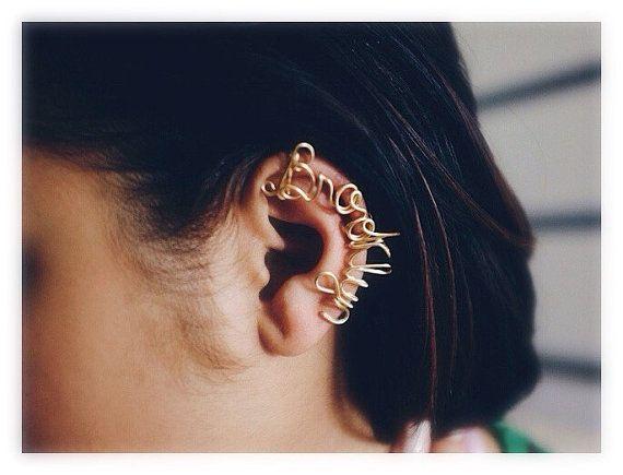 Brooklyn Ear Cuff - Handmade. Tarnish Resistant. Hypoallergenic. Customizable. Flexible. In Gold, Silver, Copper / Rose Gold.