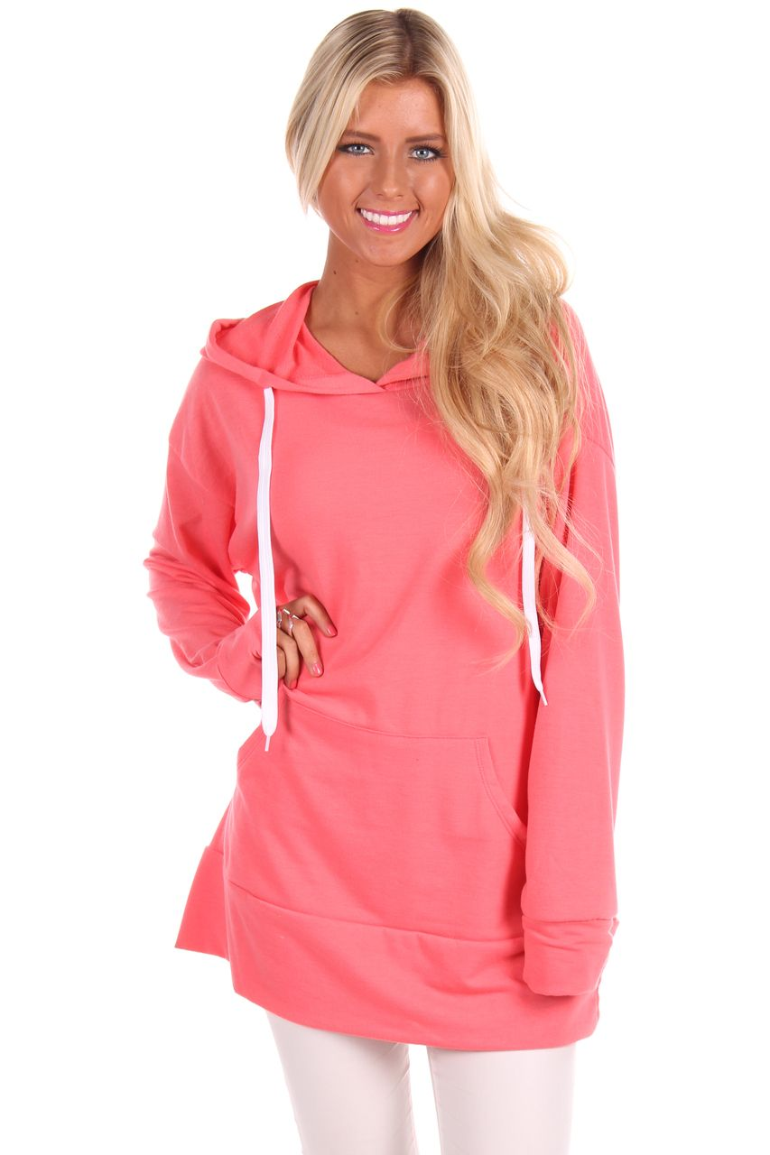 e9eedbe30f50 Lime Lush Boutique - Coral Oversized Hoodie, $39.99 (http://www.