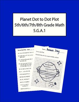 This is a fun math exercise where students graph ordered pairs to reveal a hidden image. An answer key is included!