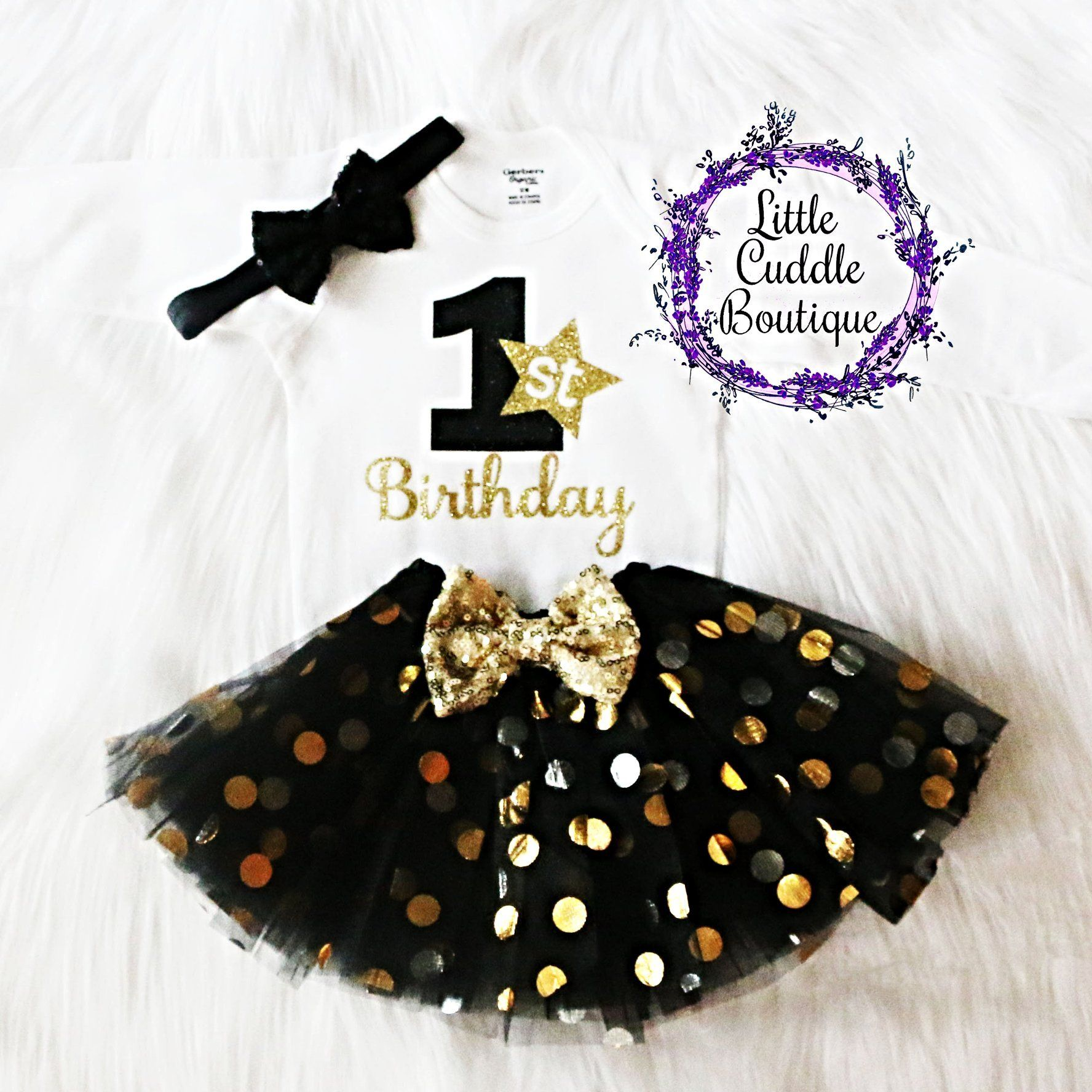 New Year S First Birthday Tutu Outfit First Birthday Tutu Birthday Party Outfits New Years Eve Birthday Party