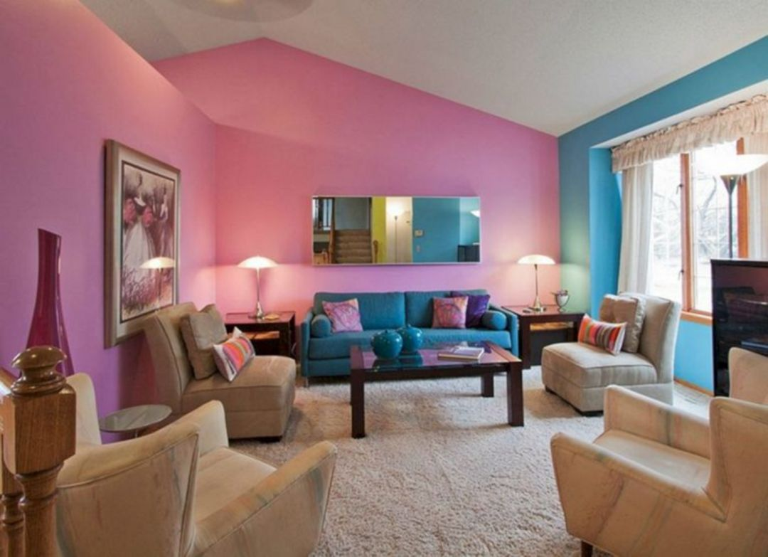 make your home more beautiful with this pink interior on interior design painting walls combination id=58194