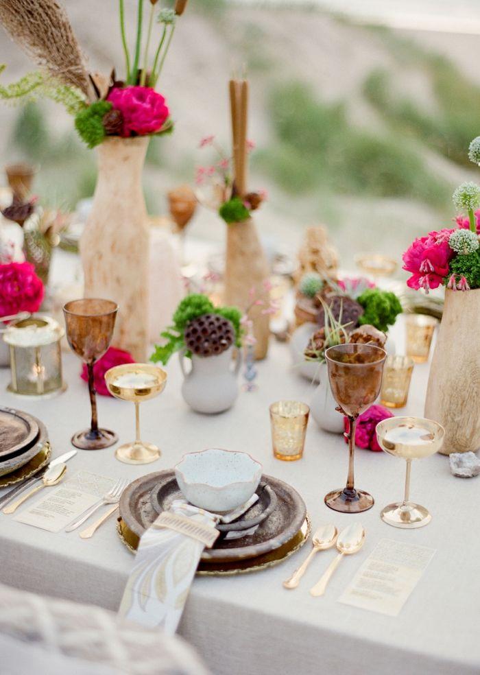 Goldene tischdeko f r eine elegante hochzeit hochzeit - Tischdeko goldene hochzeit ...