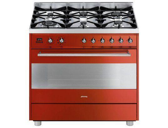 Cuisiniere Gaz SMEG CGMR Totalement SMEG Pinterest Smeg - Cuisiniere four chaleur tournante gaz pour idees de deco de cuisine