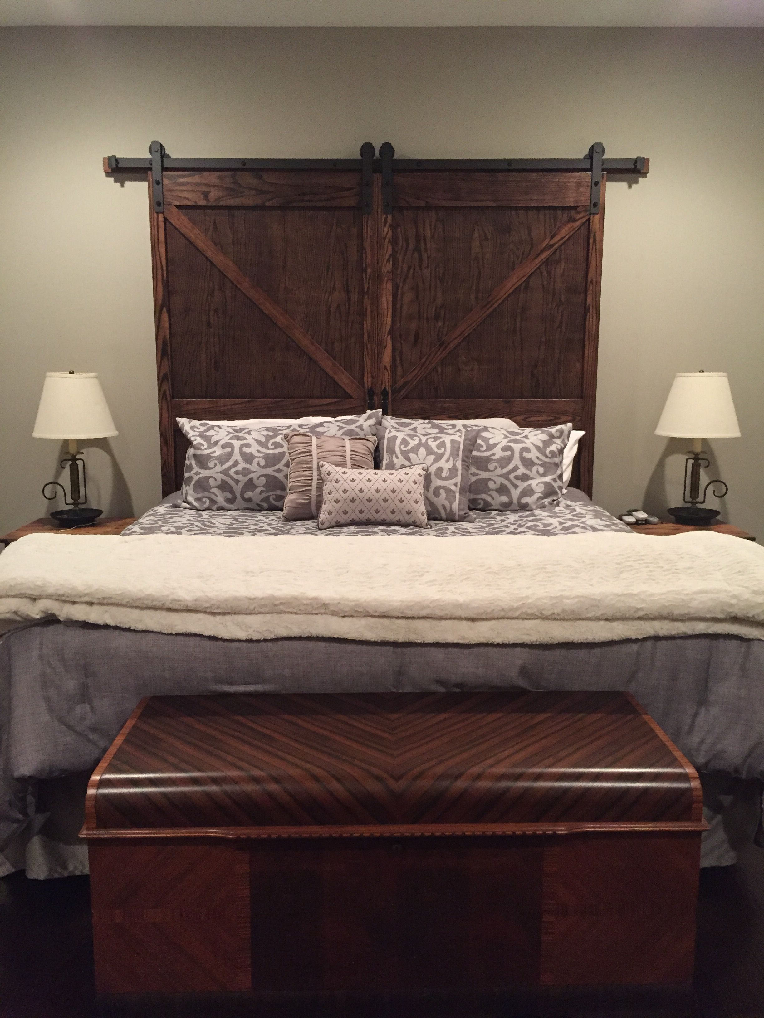 King Size Barn Door Headboard With Hardware Headboarddiy