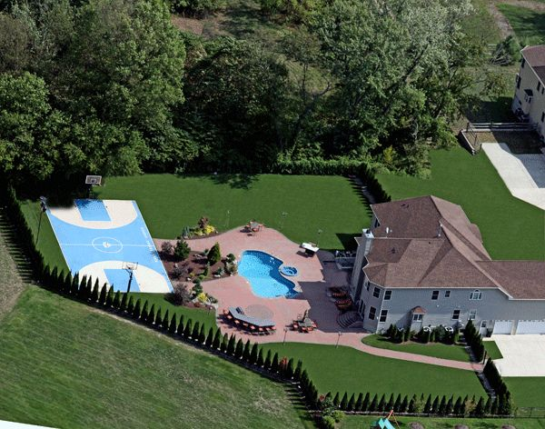 Luxury Pool Design Basketball Court Backyard Patio Basketball Court Backyard Dream Backyard Backyard Basketball