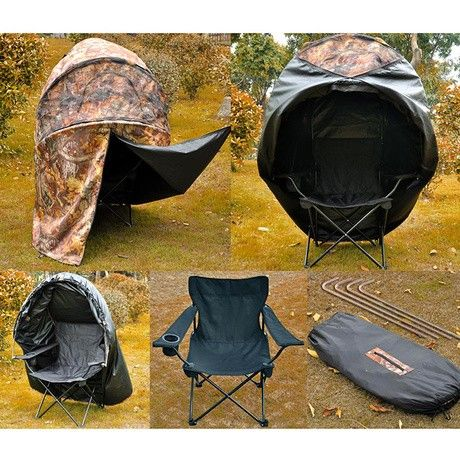 1 Person Ground Hunting Blind Tent Chair Tent Chair Hunting Blinds Hunting Ground Blinds
