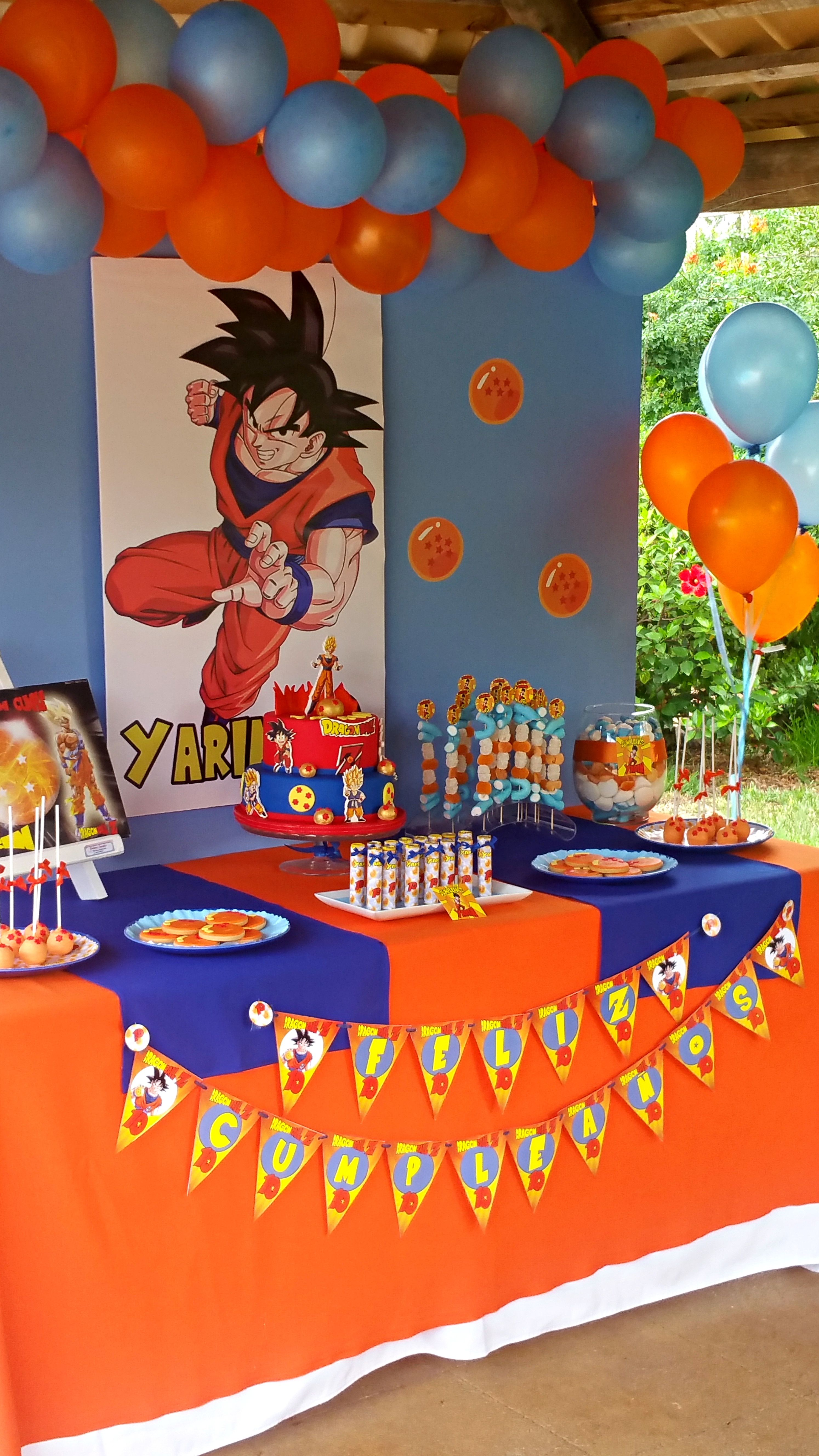 Decoraci n mesa dulce drag n ball ni o decor design for Decoration dragon ball