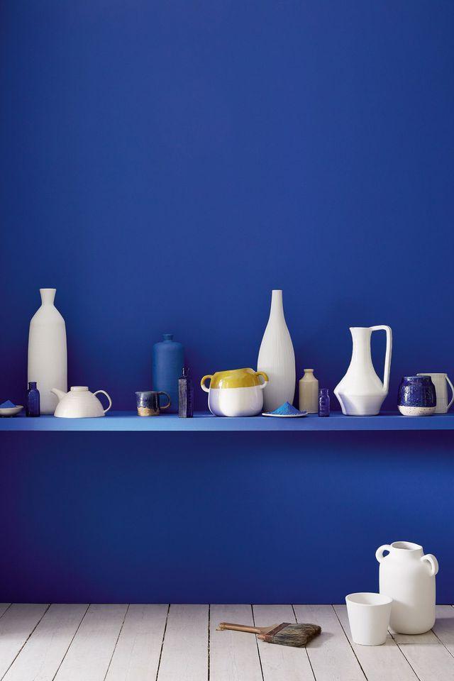 Peinture bleu  12 couleurs bleutées pour repeindre son intérieur - peinture murale interieur maison