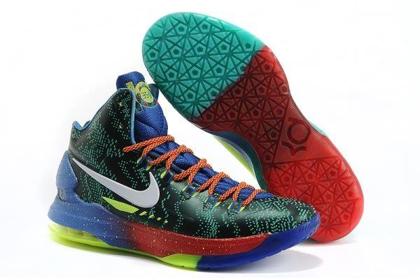 huge discount e6223 ba374 Nike Zoom Kevin Durant s KD V Mandarin Duck Basketball shoes Royal Blue
