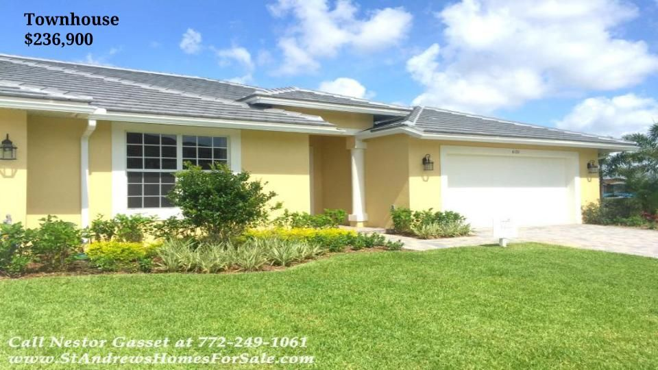 St Andrews Park Villas 3 Br Townhouse For Sale In Port St Lucie Fl 6136 Nw Kendra Ln Standrewsparkvillas 613 Villa New Homes For Sale Luxury Amenities