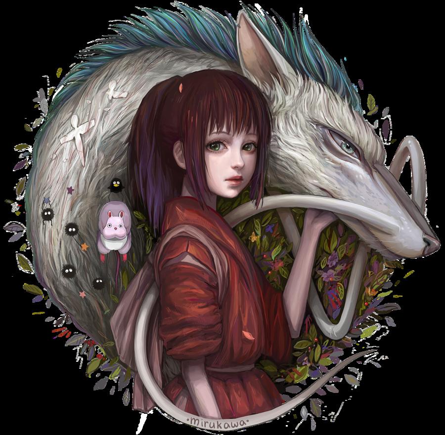 Spirited Away By Mirukawa On Deviantart Ghibli Studio Ghibli Movies Ghibli Art