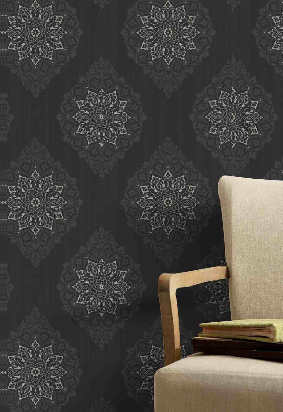 Wallpaper Kelly Hoppen G 52cm 10m Tattoo Char 30 415 Bunnings Warehouse 60 Charcoal Wallpaper Wallpaper Home Wallpaper