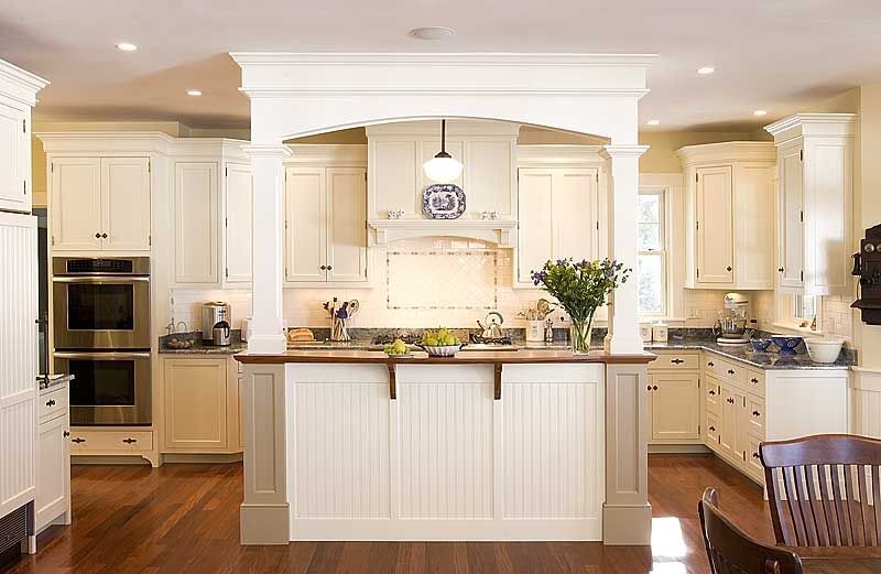 Kitchen Island With Columns kitchen island idea (if you have to have a support beam of sort