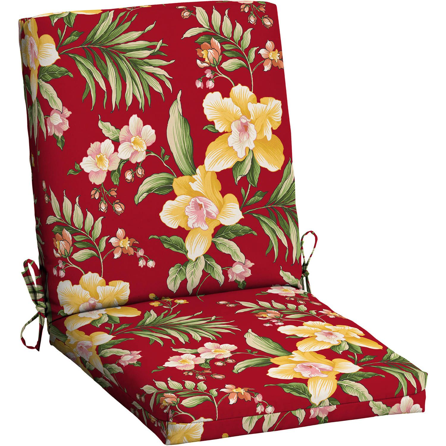 Refresh your patio set with a great look at a great price. Add style and color to your outdoor living area with this Mainstays Outdoor Dining Chair cushion. This cushion fits most standard patio furniture and is filled with 100 percent polyester for outdoor use. Easy-care polyester fabric is UV-rated to resist fading and can be cleaned using just soap and water. There are self-ties to fasten the c ** Read more  at the image link.