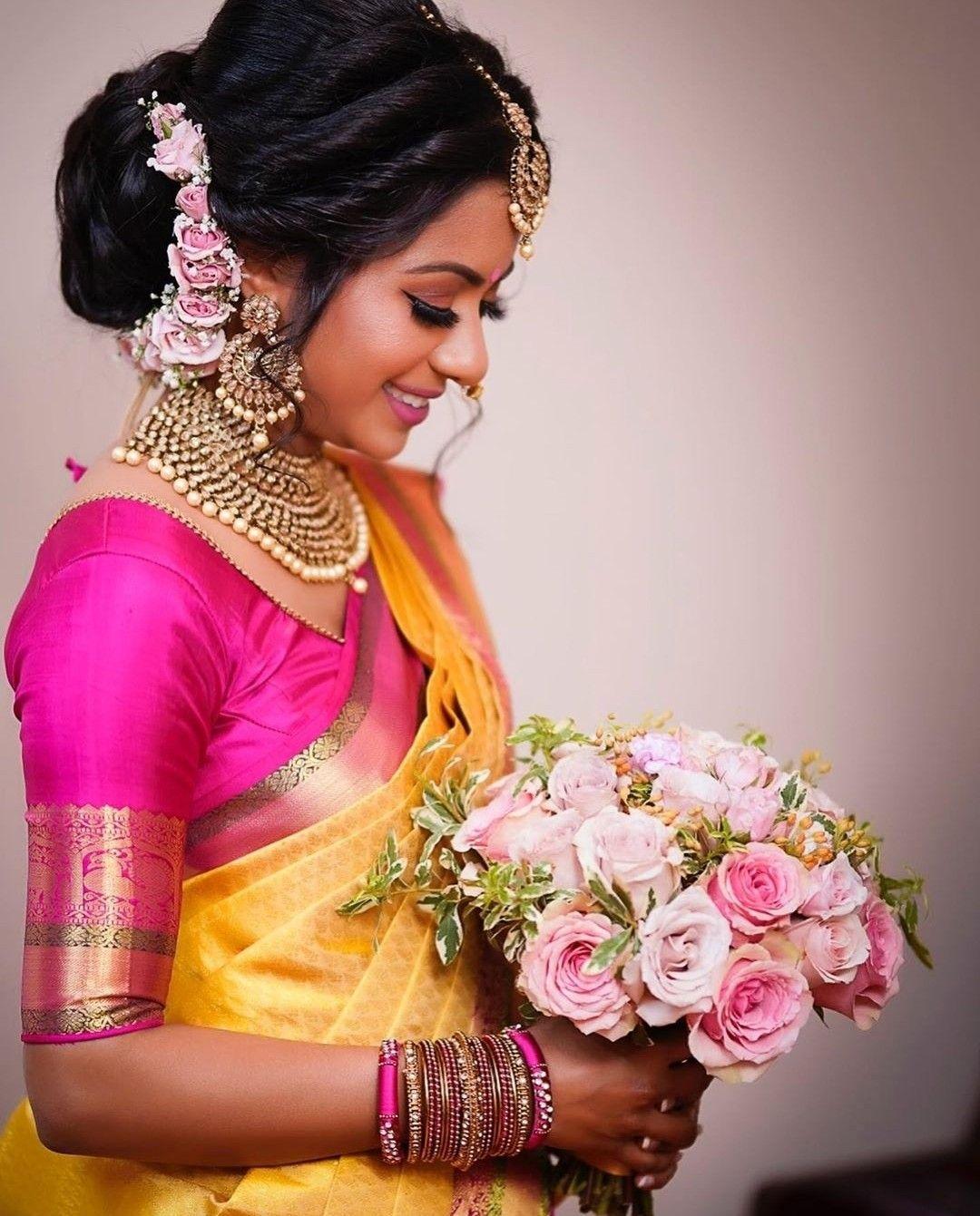 Muah Purebeautybylatha Indian Wedding Wear Bride Hairstyles Tamil Wedding