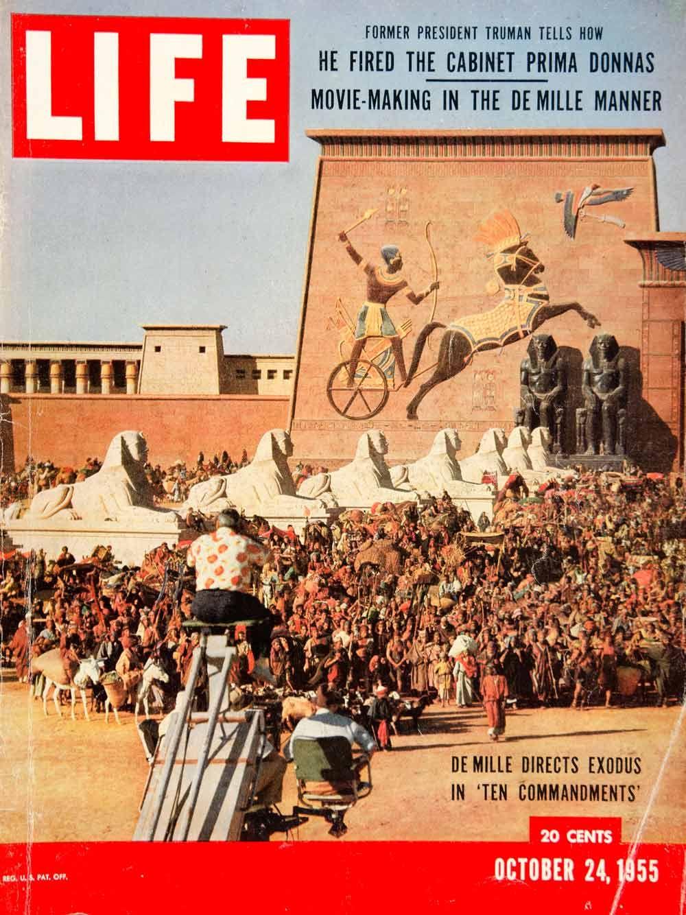 1955 Cover LIFE Ten Commandments Movie Cecil B. DeMille Exodus G. E. Richardson