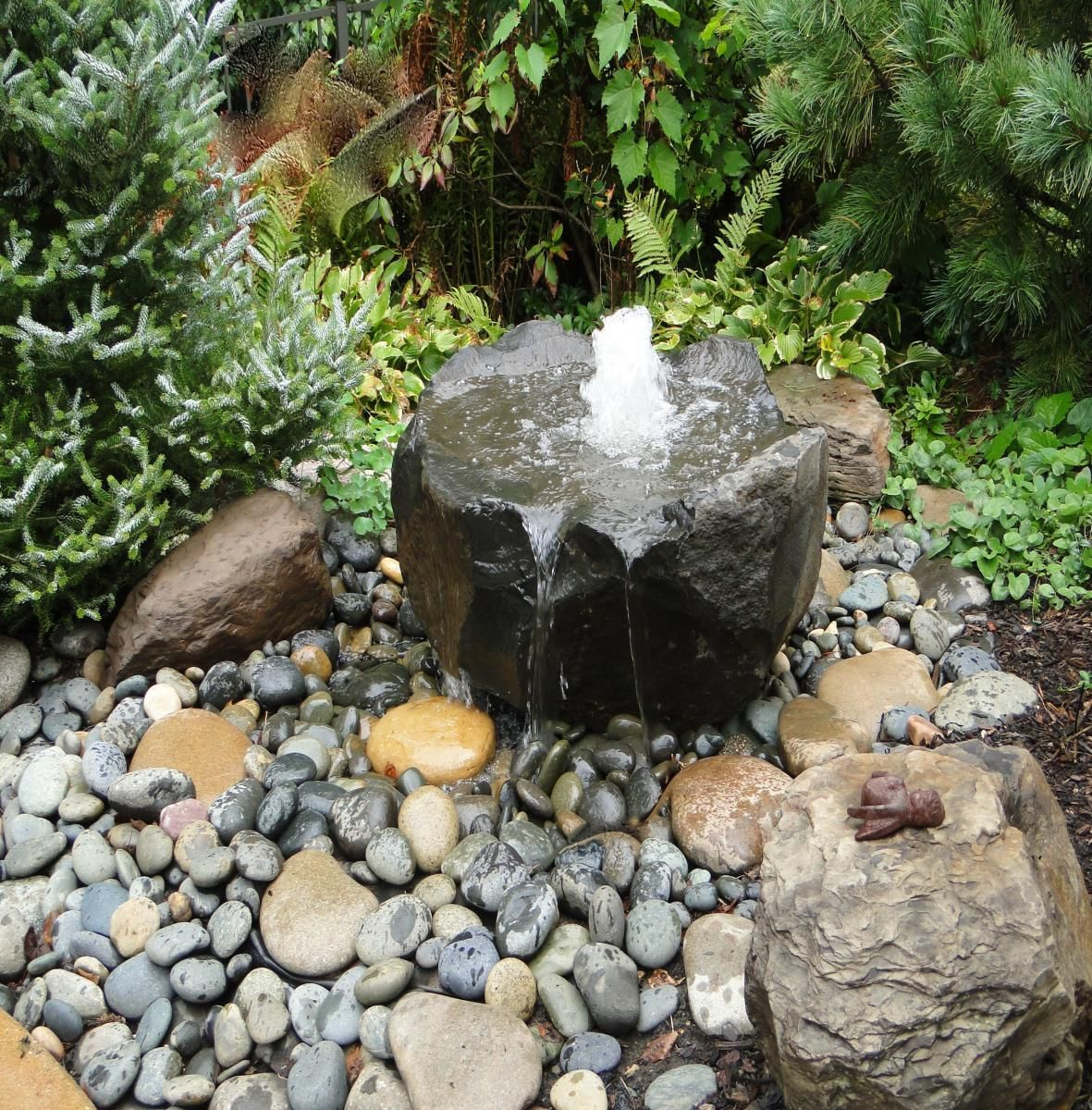 Rocksgardenswaterfountain Water Features Gallery Stonewood Design Group