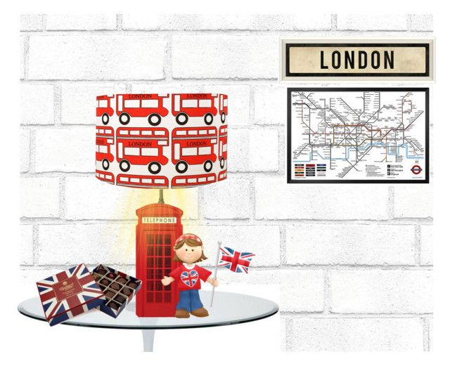 """London's Souvenir Lamp"" by riagr ❤ liked on Polyvore featuring art"
