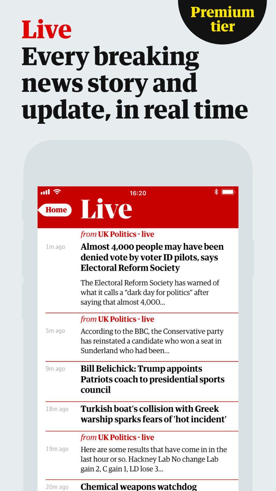 The Guardian iosSportsappapps Sports app, App, Uk