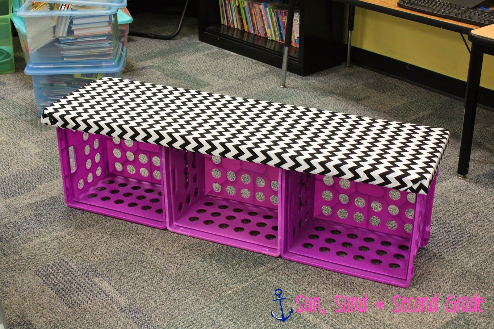 Step by step tutorial for this cute crate bench done in for Wood crate bench
