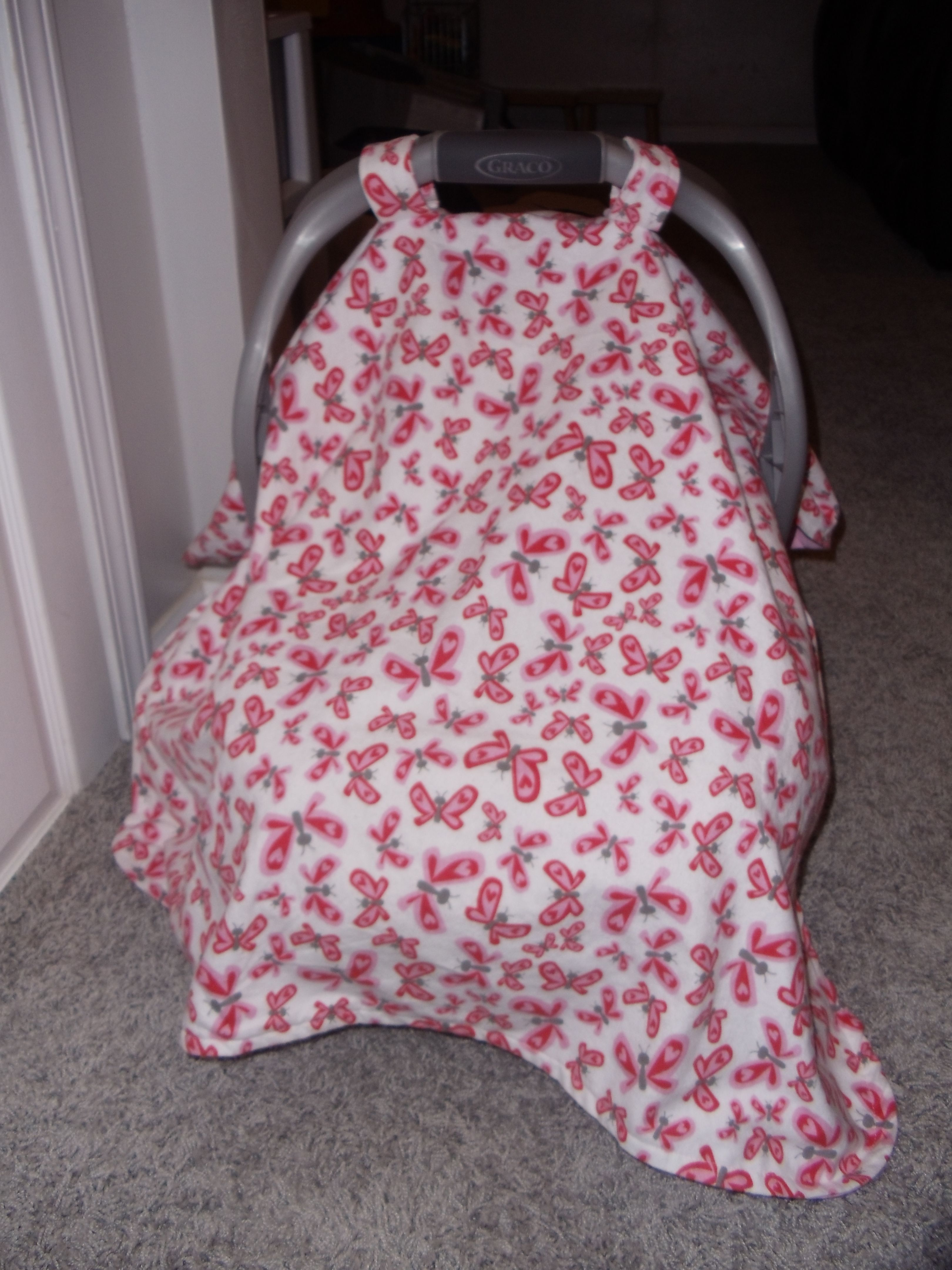 Baby car seat canopy - Thanks to the tutorial! //buzzaboutbaby. & Baby car seat canopy - Thanks to the tutorial! http ...
