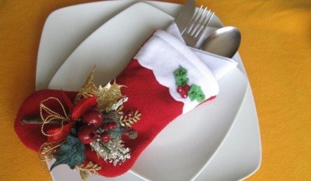 Best 25 porta cubiertos de navidad ideas on pinterest - Manteles para navidad ...
