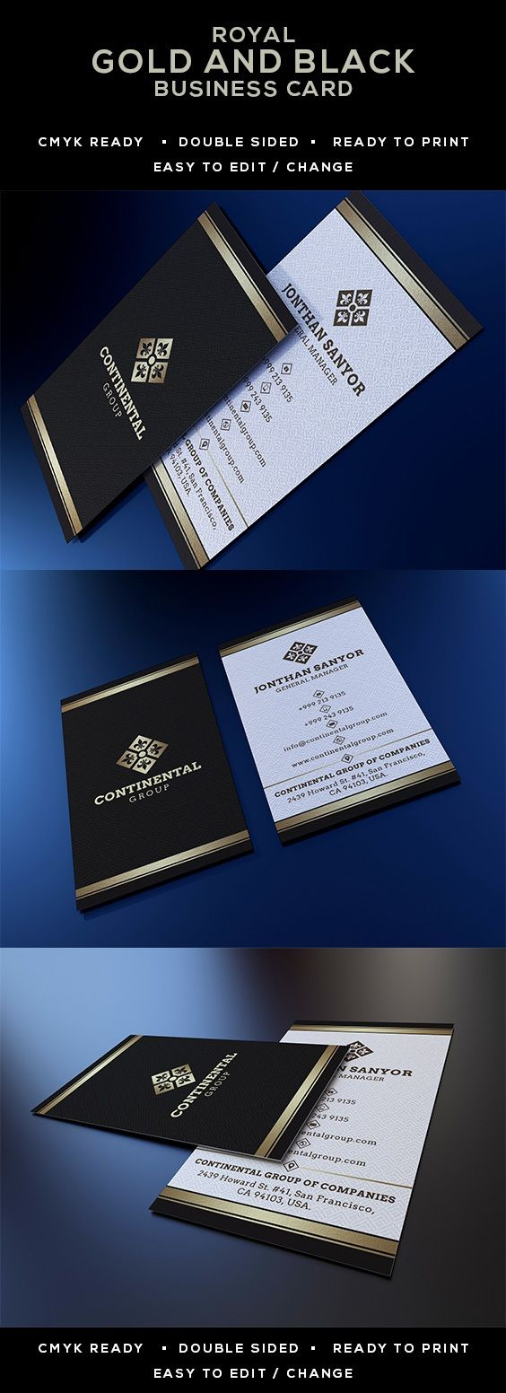 Gold and black business card 54 creative business cards gold and black business card elegant royal reheart Choice Image