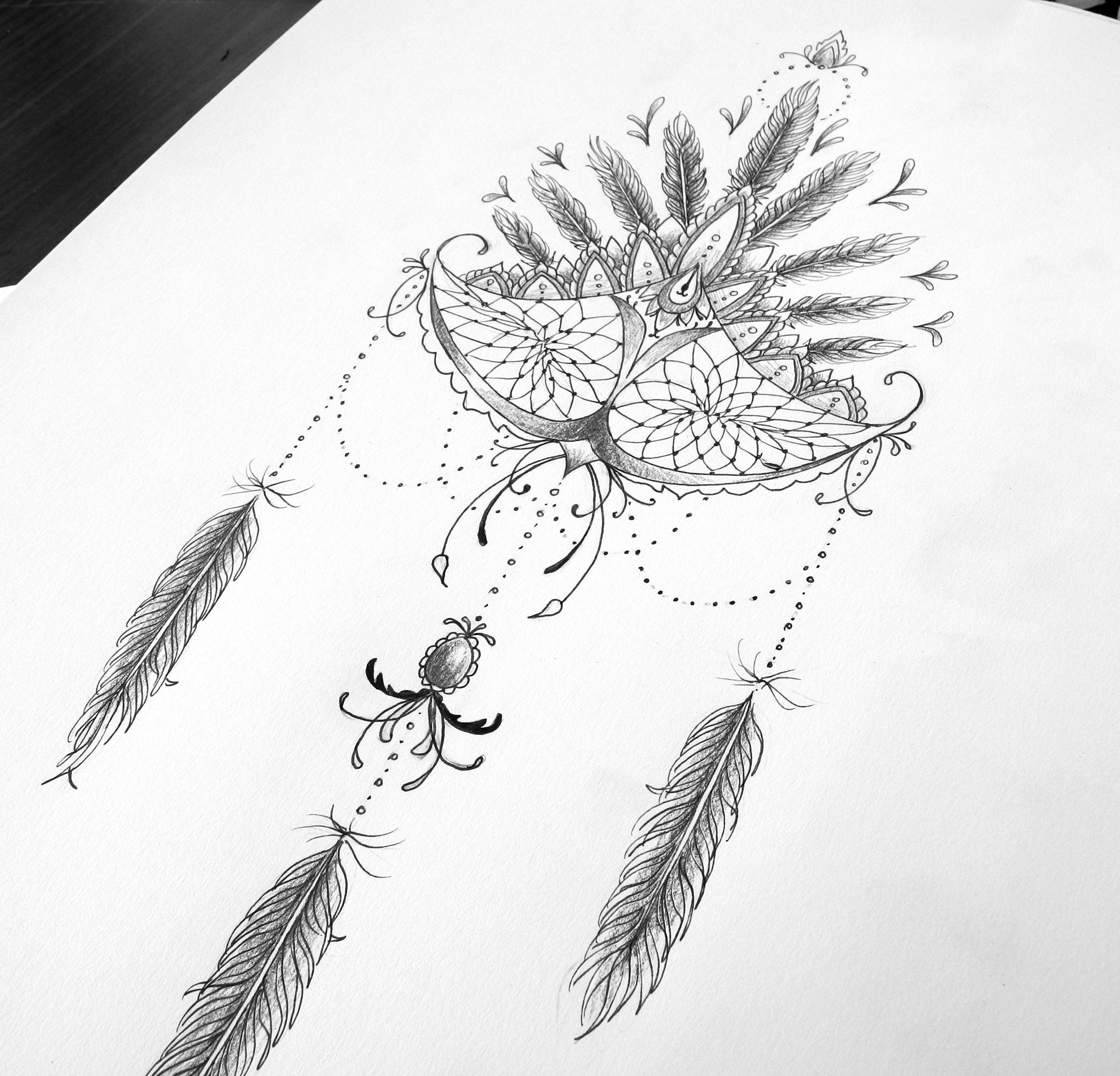 Fleur De Lotus Dijon dreamcatcher :-) attrape-rêves revisité arabesques, plumes