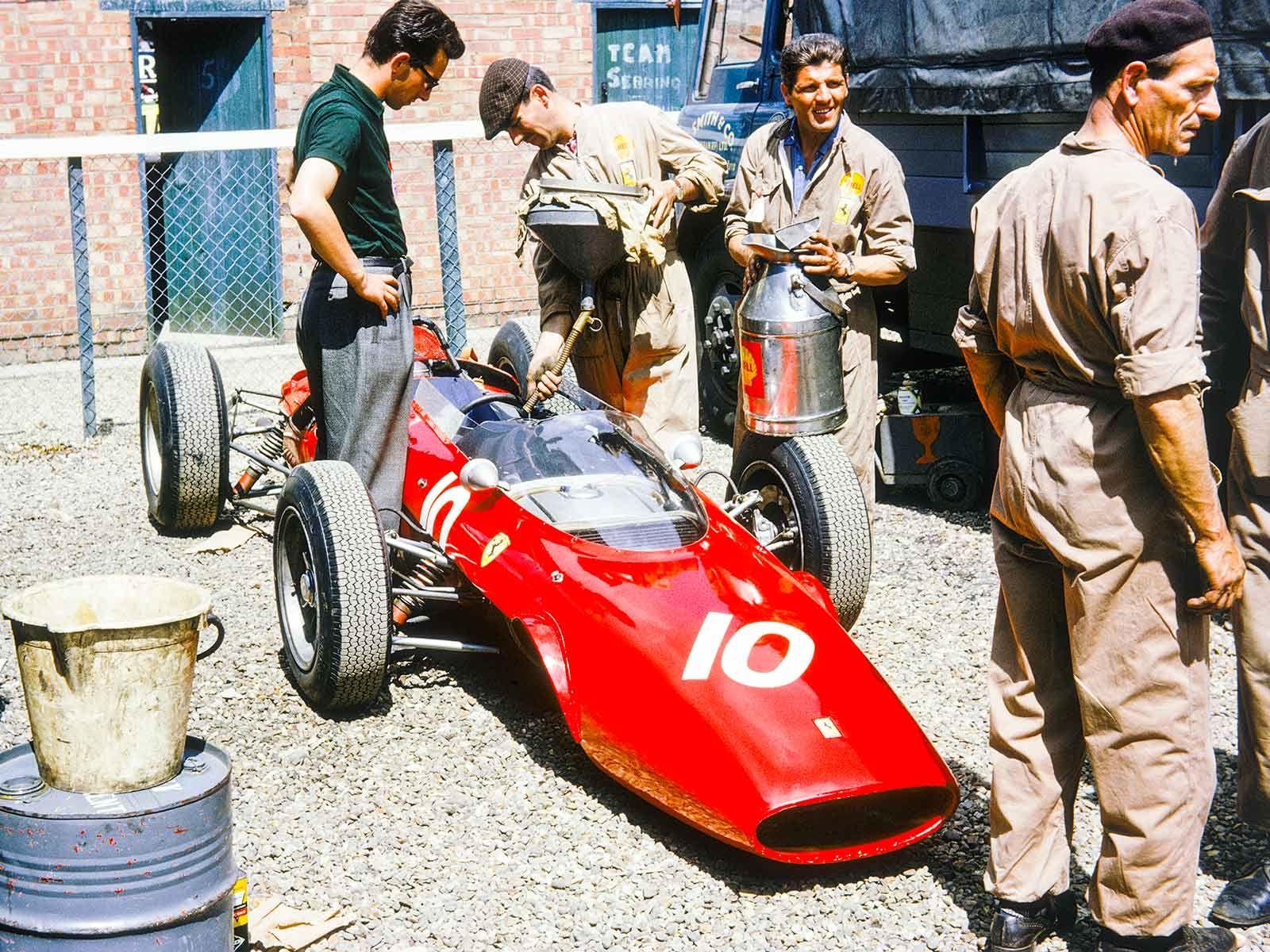 1963 GP Wielkiej Brytanii (John Surtees) Ferrari 156/63