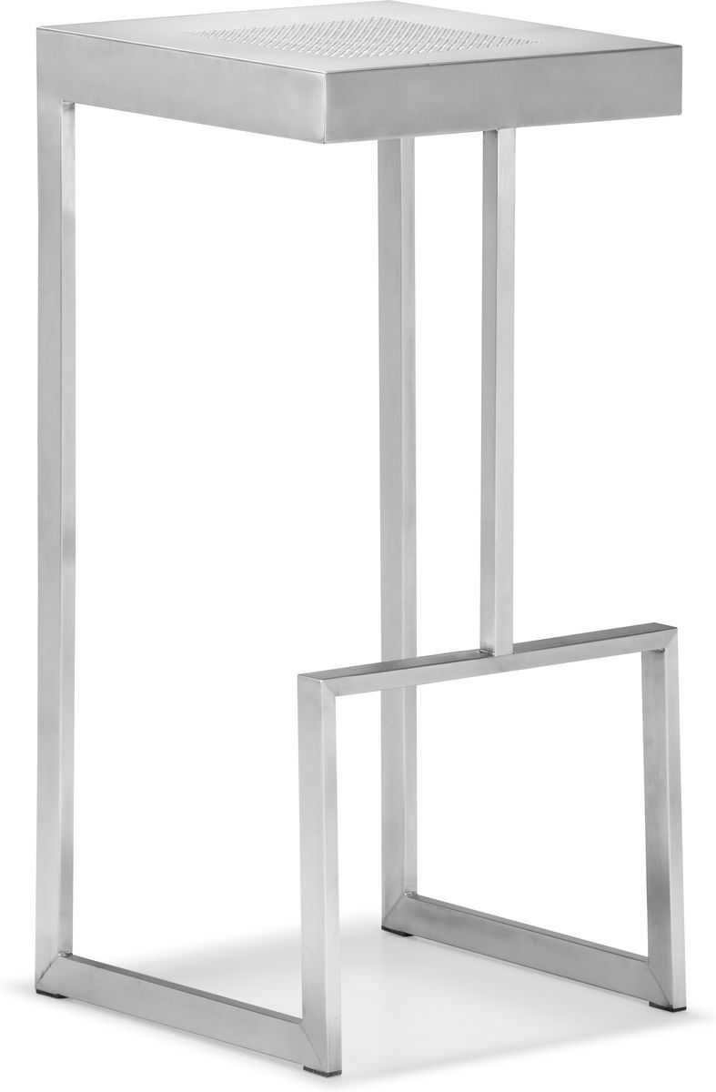 Zuo Deal Bar Chair 701145 Visit Stylishbarstools Com To See More Stainless Steel Bar Stools Bar Chairs White Bar Stools