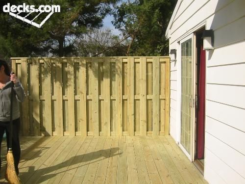 Privacy Screen Wall Deck Picture Gallery   Home2!! - Fence/Deck ...