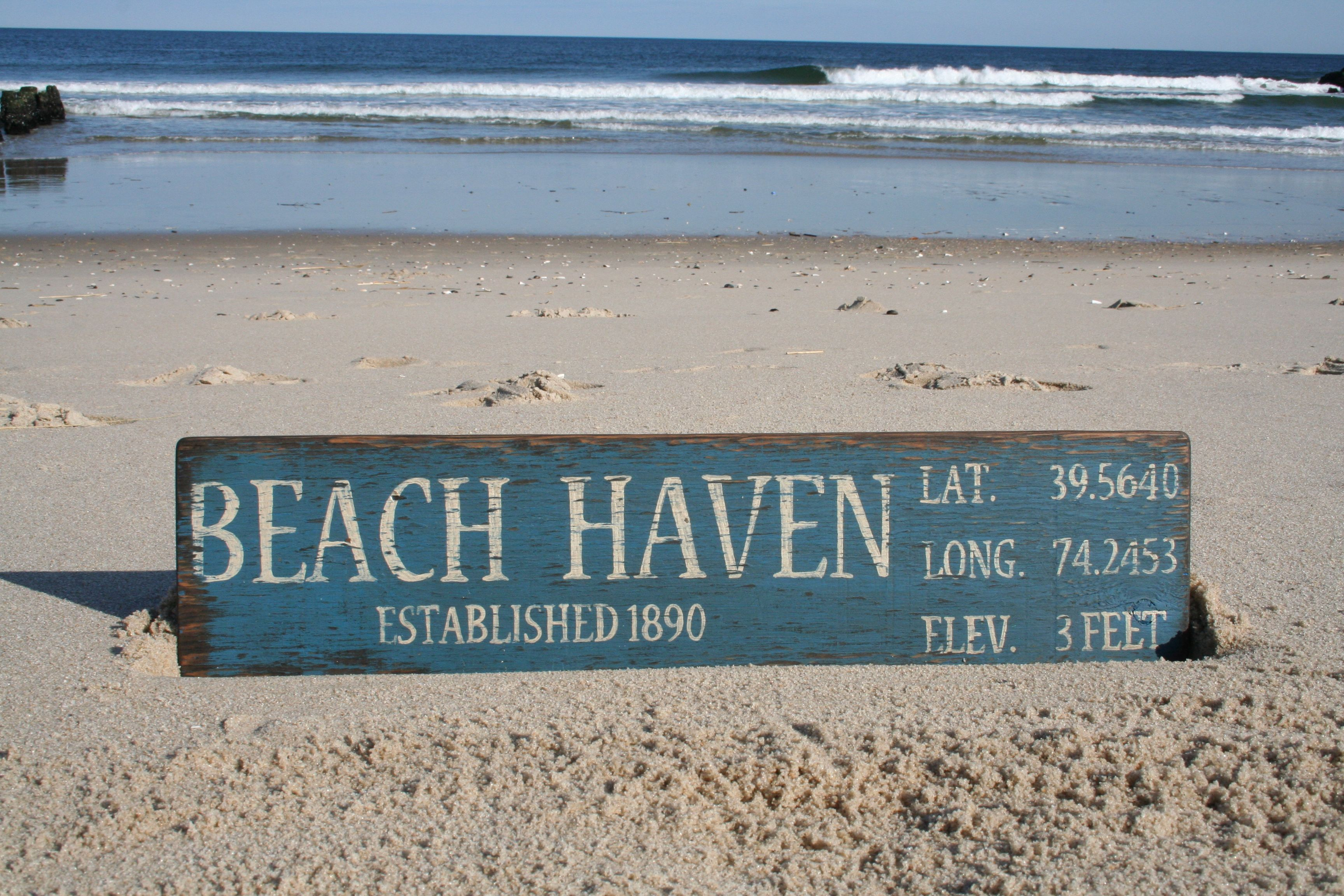 Beach Haven Long Island Nj Jersey S Handmade Sign From Signs By The Sea Lbi Beachhaven Jerseys Signsbythesea