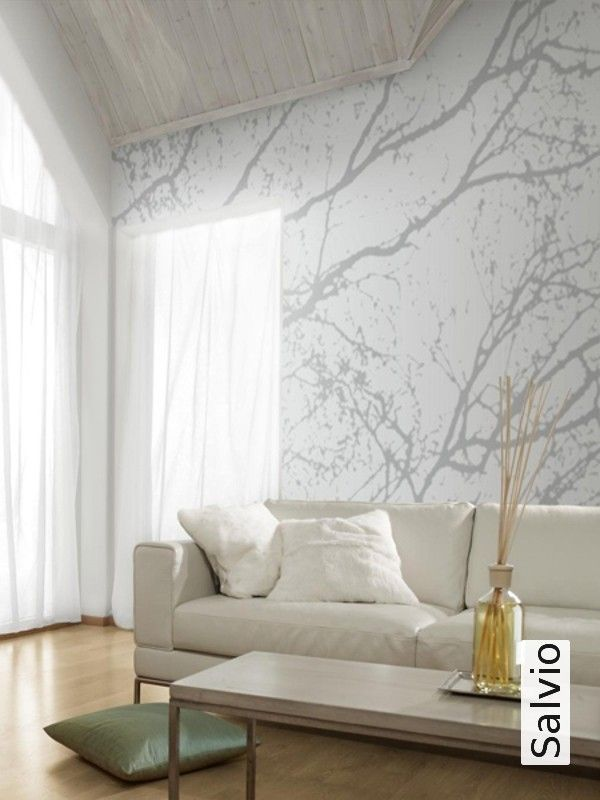 Salvio Tapeten, Moderne muster und Grau - graue tapete wohnzimmer